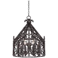 "Eagleton 20"" Wide Metal Scroll Chandelier"