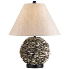 Currey and Company Amalfi Oyster Shell Table Lamp