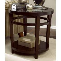 Urbana Merlot Round End Table