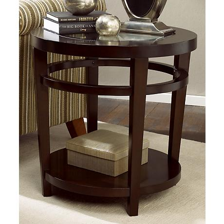 Hammary Urbana Merlot Round End Table