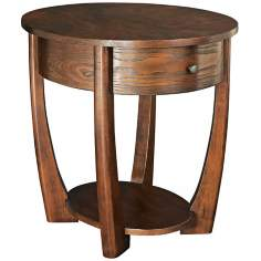Concierge Cherry Oval End Table