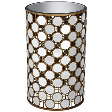 Marilyn Mirrored Round Accent Table