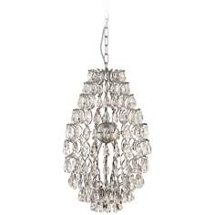 "Crystalova 15 3/4"" Wide Teardrop Chandelier"