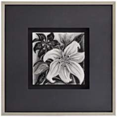 "Molded Glass Floral I 26"" Square Framed Wall Art"