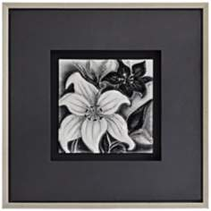 "Molded Glass Floral II 26"" Square Framed Wall Art"