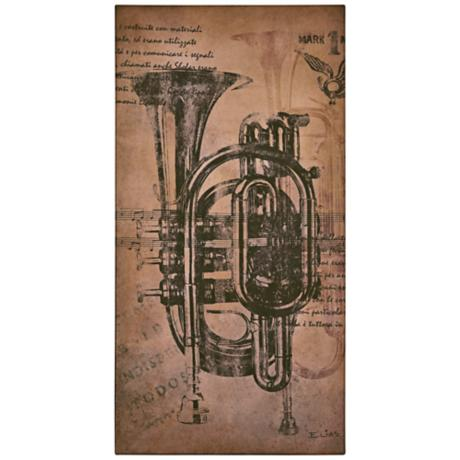 "Classic Trumpet 40"" High Musical Wall Art"