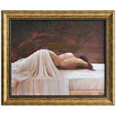 "Slumber 36"" High Framed Figurative Wall Art"