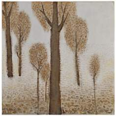 "Dry Brush Tree II 30"" Square Gallery Wrap Wall Art"