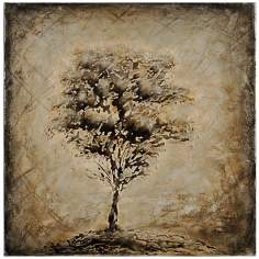 "Nature Silhouette I 24"" Square Oil Painting Tree Wall Art"