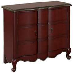 Annabelle Red Scalloped 2-Door Chest