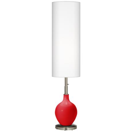 Bright Red Ovo Floor Lamp