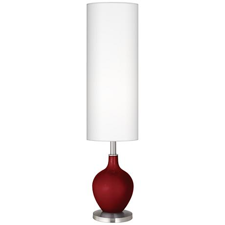 Cabernet Red Metallic Ovo Floor Lamp
