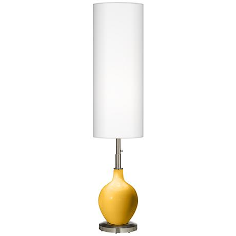 Goldenrod Ovo Floor Lamp