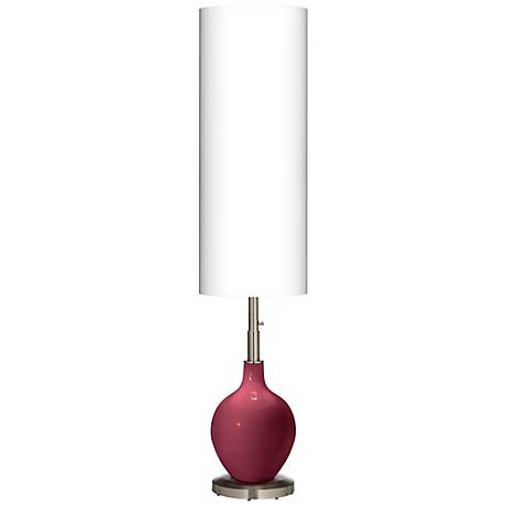 Dark Plum Ovo Floor Lamp