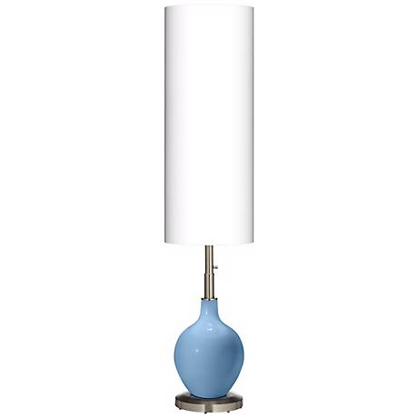 Dusk Blue Ovo Floor Lamp