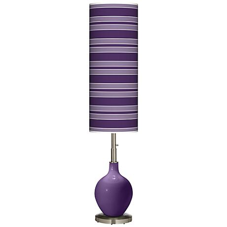 Acai Bold Stripe Ovo Floor Lamp