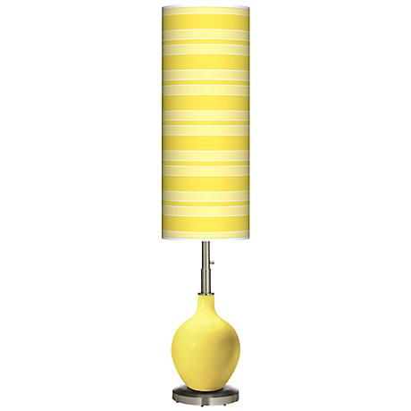 Lemon Twist Bold Stripe Ovo Floor Lamp