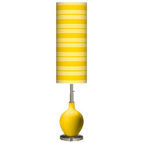 Citrus Bold Stripe Ovo Floor Lamp