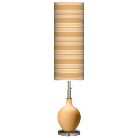 Harvest Gold Bold Stripe Ovo Floor Lamp