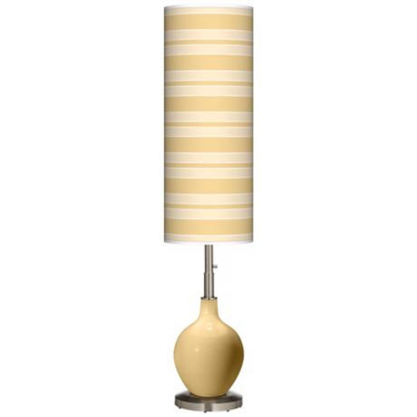 Humble Gold Bold Stripe Ovo Floor Lamp