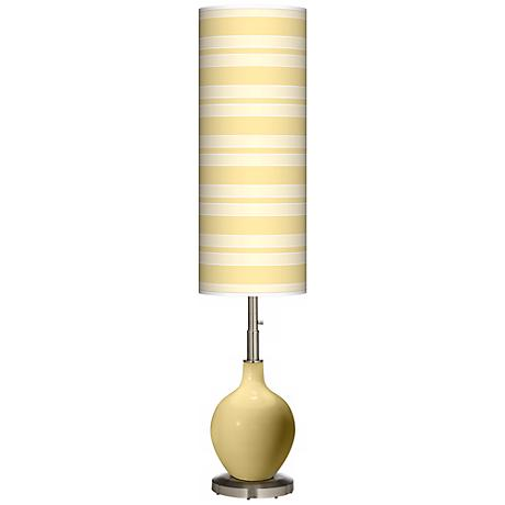Butter Up Bold Stripe Ovo Floor Lamp