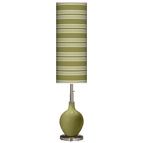 Rural Green Bold Stripe Ovo Floor Lamp