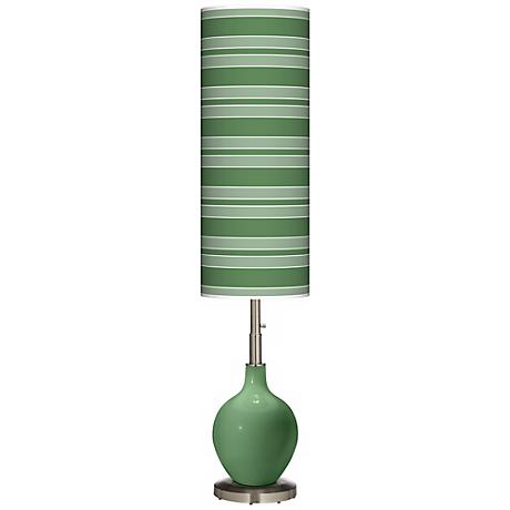 Garden Grove Bold Stripe Ovo Floor Lamp