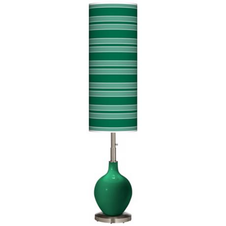 Greens Bold Stripe Ovo Floor Lamp