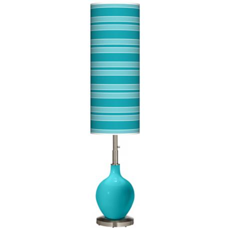 Surfer Blue Bold Stripe Ovo Floor Lamp