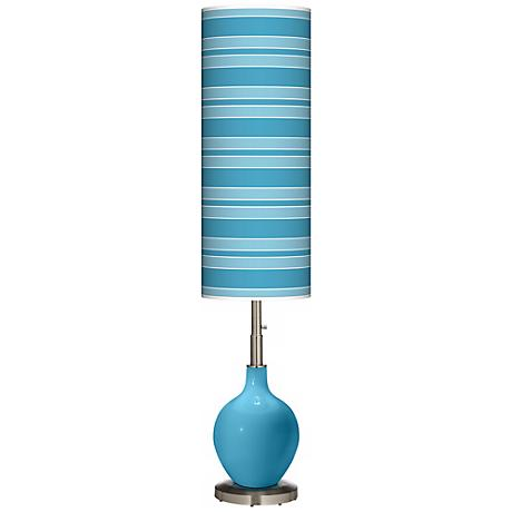 Jamaica Bay Bold Stripe Ovo Floor Lamp