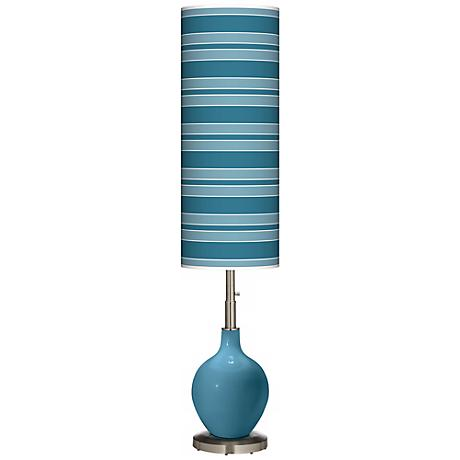 Great Falls Bold Stripe Ovo Floor Lamp