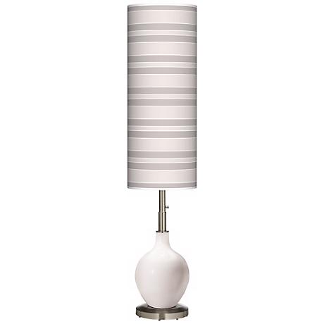 Smart White Bold Stripe Ovo Floor Lamp