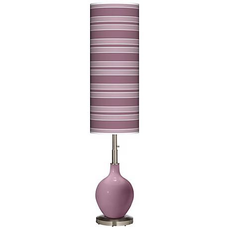 Plum Dandy Bold Stripe Ovo Floor Lamp