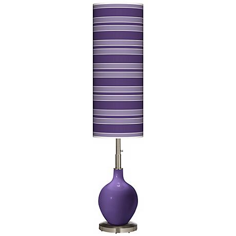 Izmir Purple Bold Stripe Ovo Floor Lamp