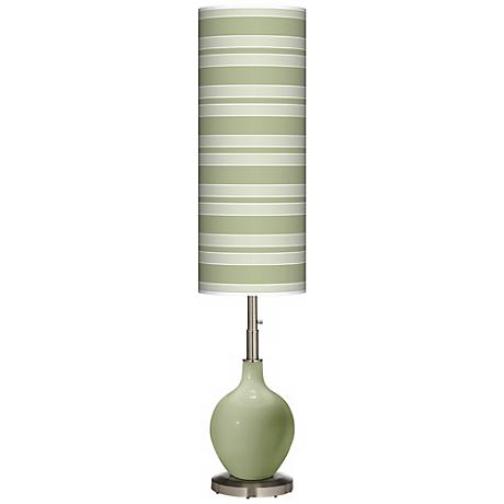 Majolica Green Bold Stripe Ovo Floor Lamp