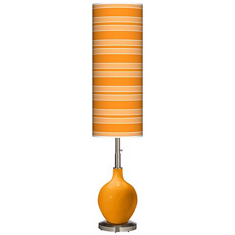 Mango Bold Stripe Ovo Floor Lamp