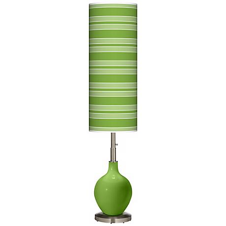 Rosemary Green Bold Stripe Ovo Floor Lamp