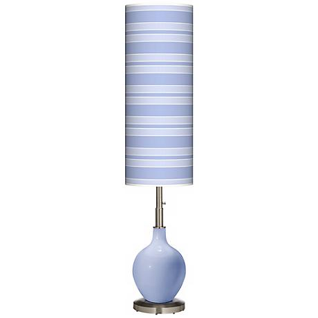 Lilac Bold Stripe Ovo Floor Lamp