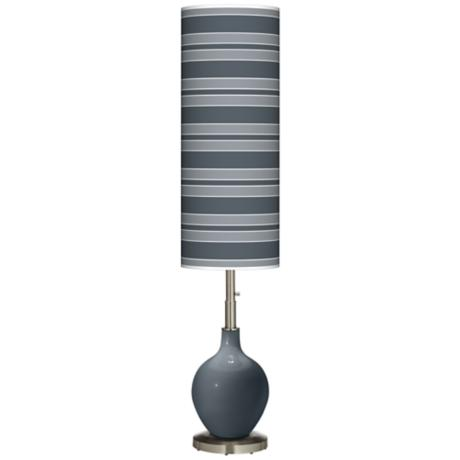 Outer Space Bold Stripe Ovo Floor Lamp