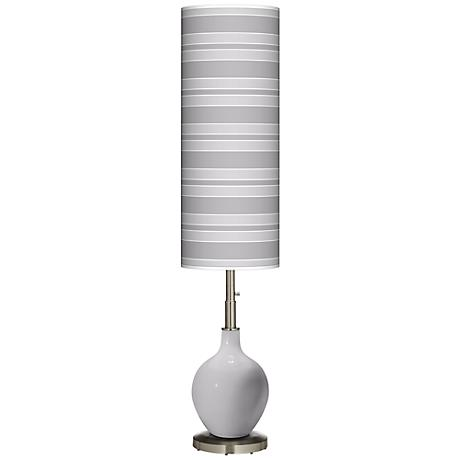 Swanky Gray Bold Stripe Ovo Floor Lamp