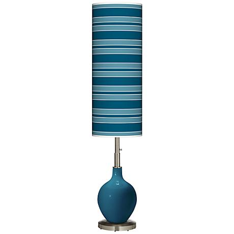 Oceanside Bold Stripe Ovo Floor Lamp