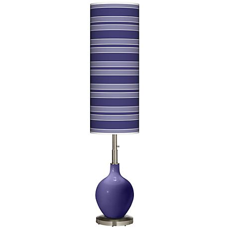 Valiant Violet Bold Stripe Ovo Floor Lamp