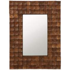 "Cooper Classics Cartona 31 1/2""H Dark Brown Wall Mirror"