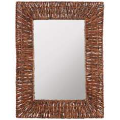 "Cooper Classics Manhattan 31"" High Recycled Wall Mirror"
