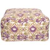 "Grape Ikat 24"" Wide Surya Pouf Ottoman"