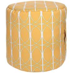 Citrine Circle Lattice Surya Pouf Ottoman