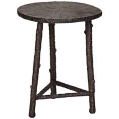 Cast Aluminum Bronze Round Accent Table