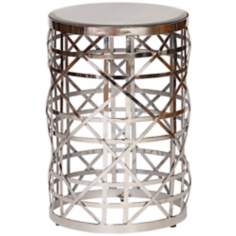 Eldridge Antique Mirror Contemporary Drum Table