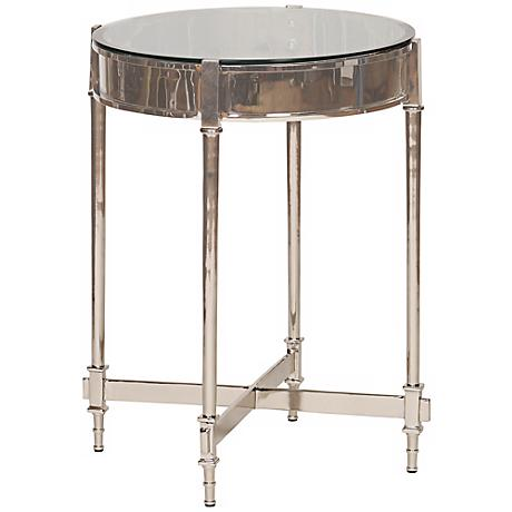 Francis Contemporary Nickel Side Table