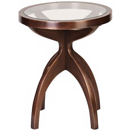 Gordino Round Antique Copper Side Table